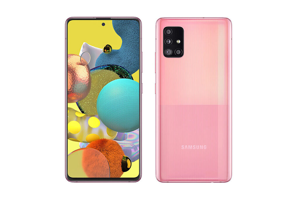 Samsung Galaxy A51 5G in pink