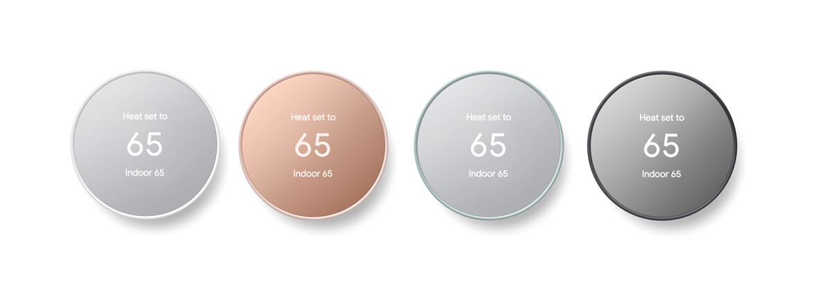 Google Nest Thermostat Colors