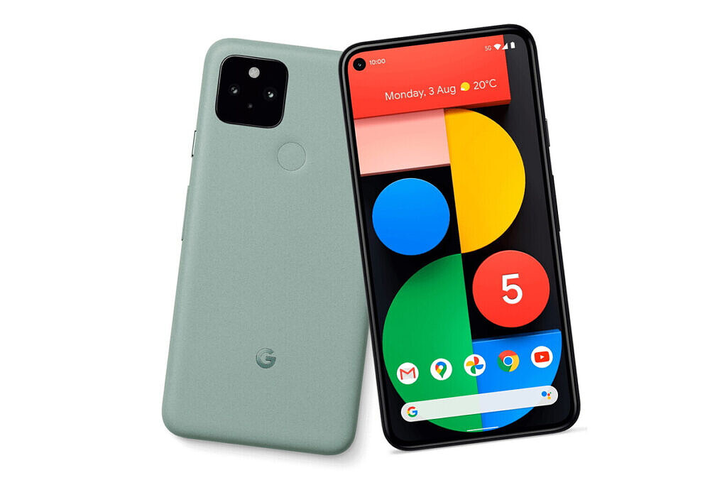 Google Pixel 5 in Sage Green