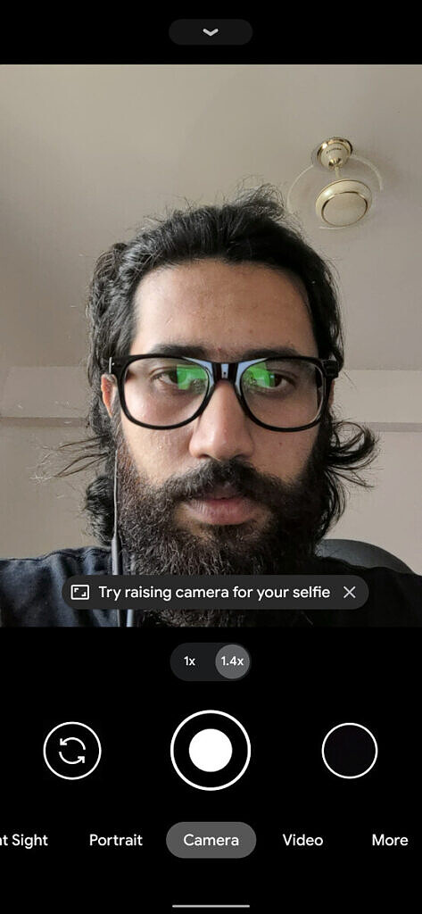 google camera 8 selfie try raising your camera hint