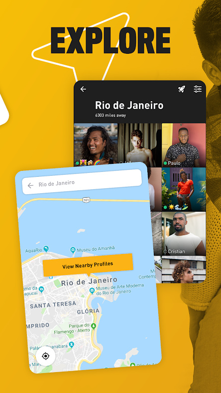 Grindr Location + Profile View