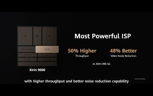 HiSilicon Kirin 9000 powerful ISP 50 higher throughput and 48 better video noise reduction than Kirin 990