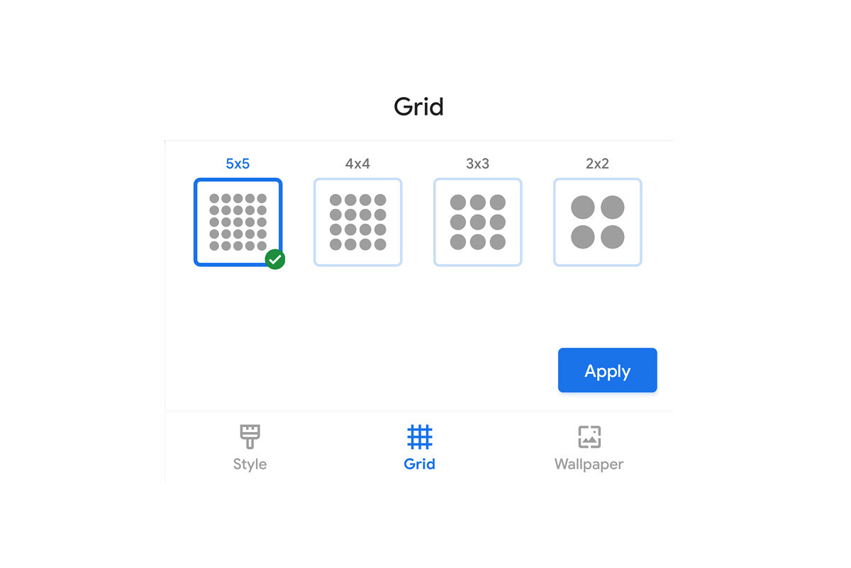 Download Pixel Launcher From The Google Pixel 5 Adds Grid Size Options