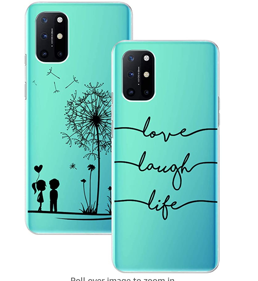 Tereyi OnePlus 8T Ultra-Slim Patterened Silicone Case