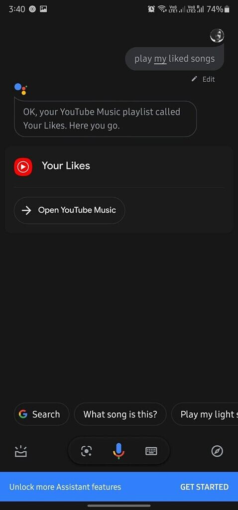 YouTube Music GPM features Google Assistant