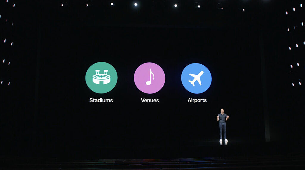 Verizon 5G ultra-broadband locations on stage at the launch of the iPhone 12 5G