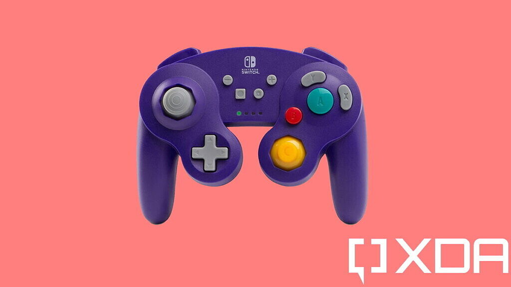 best nintendo switch controllers powera gamecube wireless purple on red background