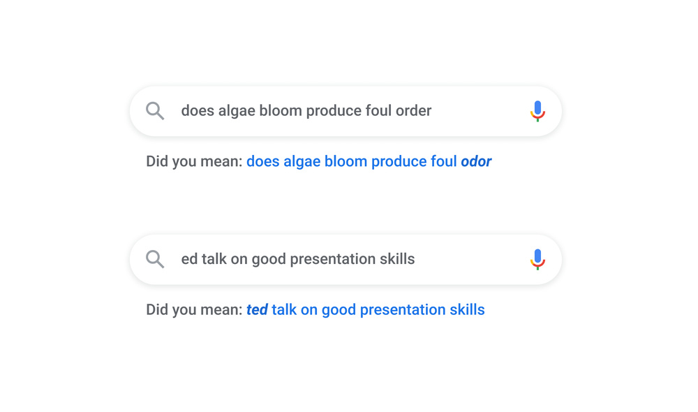 Google Search spell correction