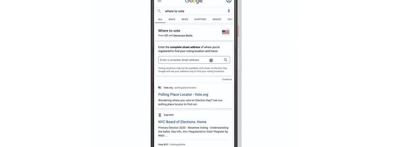 Google adds election information about where to vote in Search, Assistant and Maps