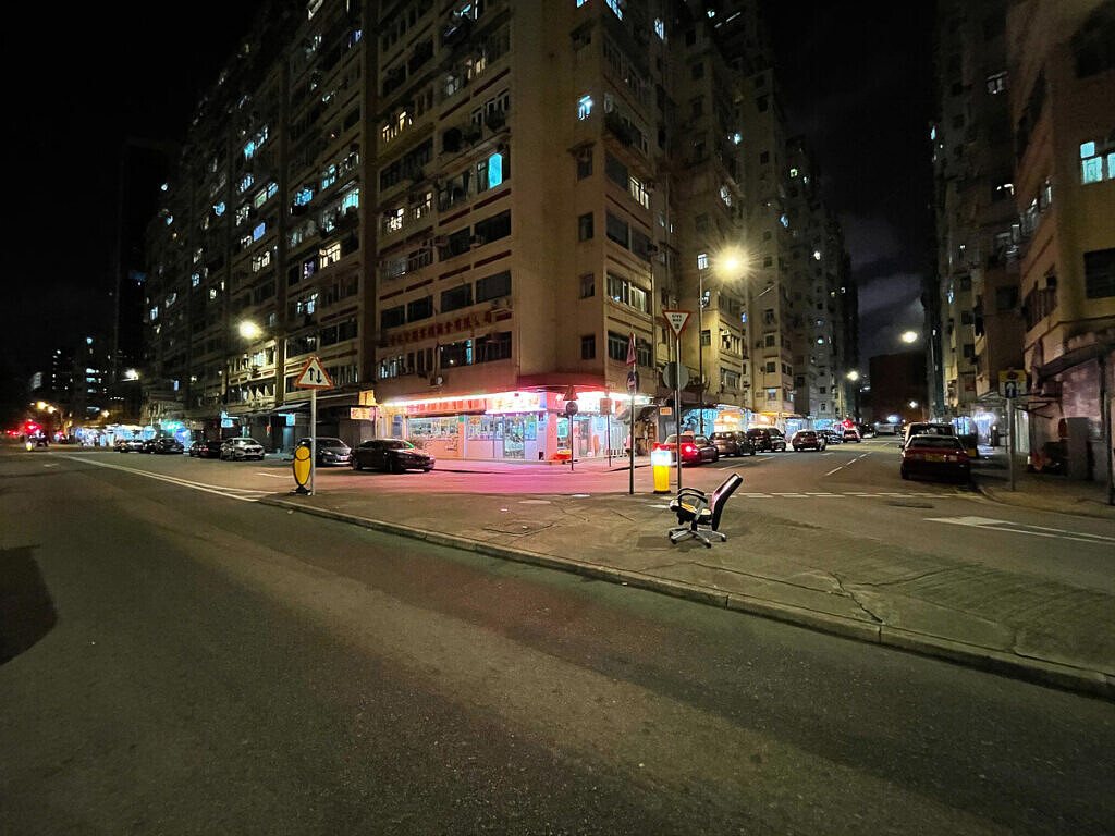 iPhone 12 ultra-wide shot at night