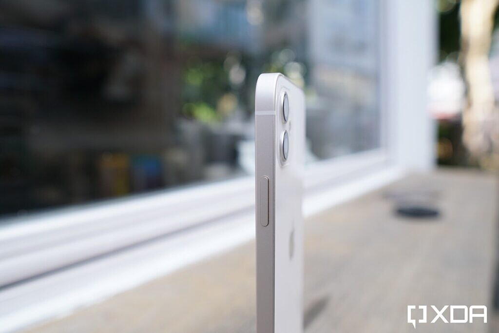 The iPhone 12 has a flat side.