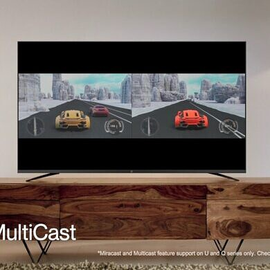 OnePlus TV Q/U Series update will bring a MultiCast feature for casting up to 4 devices simultaneously