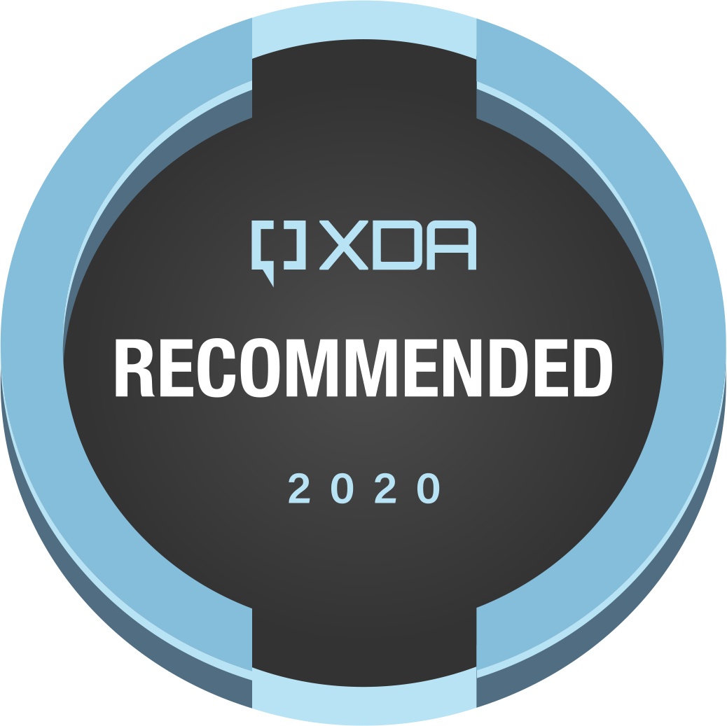 XDA Recommended Product in 2020 Award Badge