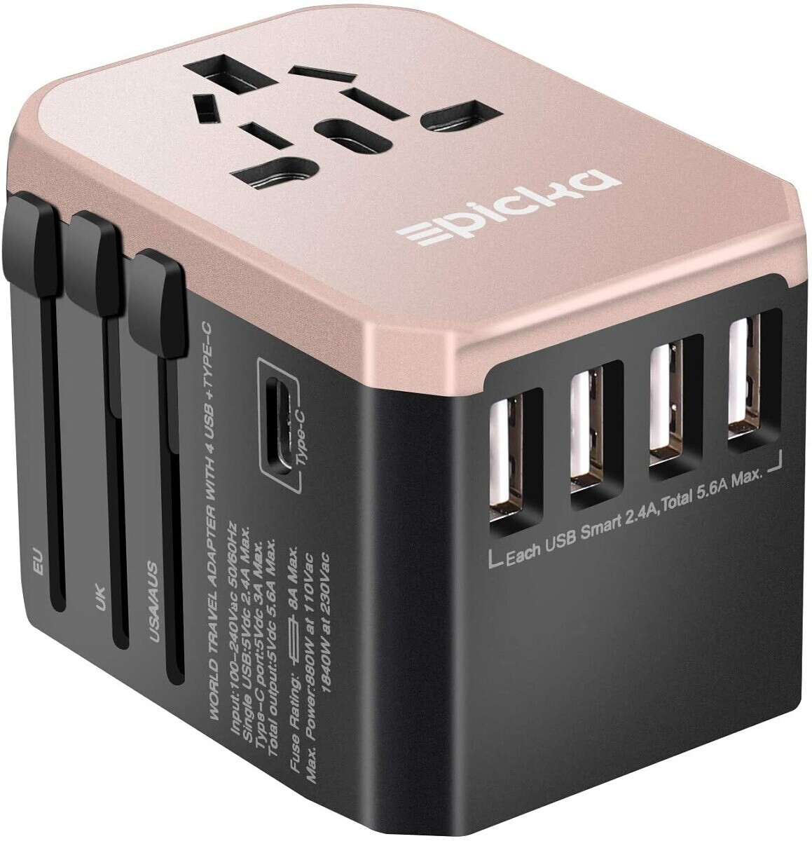 PICKA All in One Worldwide Wall Charger