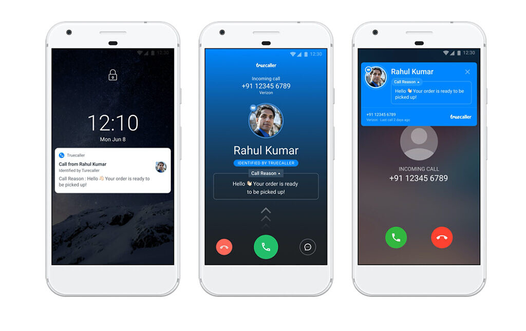 truecaller call reason message received in caller id