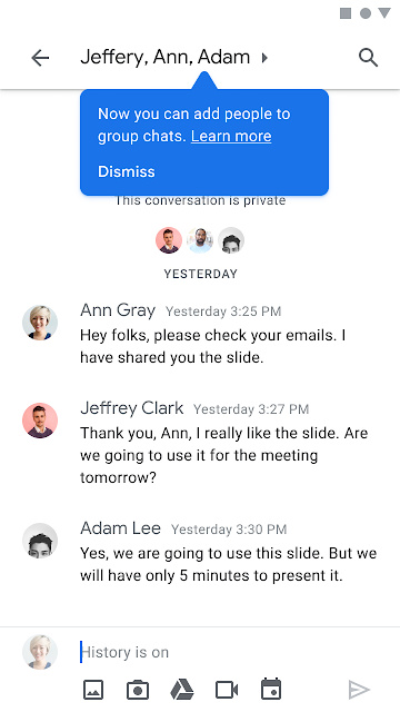 """<p>If you use Hangouts for group conversations, some important changes will be implemented in the coming weeks. The changes come on the heels of a much larger initiative, which will see Google eventually replace Hangouts with Chat by the first half of 2021. Google on Monday said group conversations in Hangouts will begin to appear</p> <p>The post <a rel=""""nofollow"""" href=""""https://www.xda-developers.com/group-conversations-hangouts-appear-in-google-chat/"""">Group conversations from Hangouts will soon appear in Google Chat</a> appeared first on <a rel=""""nofollow"""" href=""""https://www.xda-developers.com/"""">xda-developers</a>.</p>"""