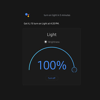 You can now schedule Google Assistant commands for smart lights