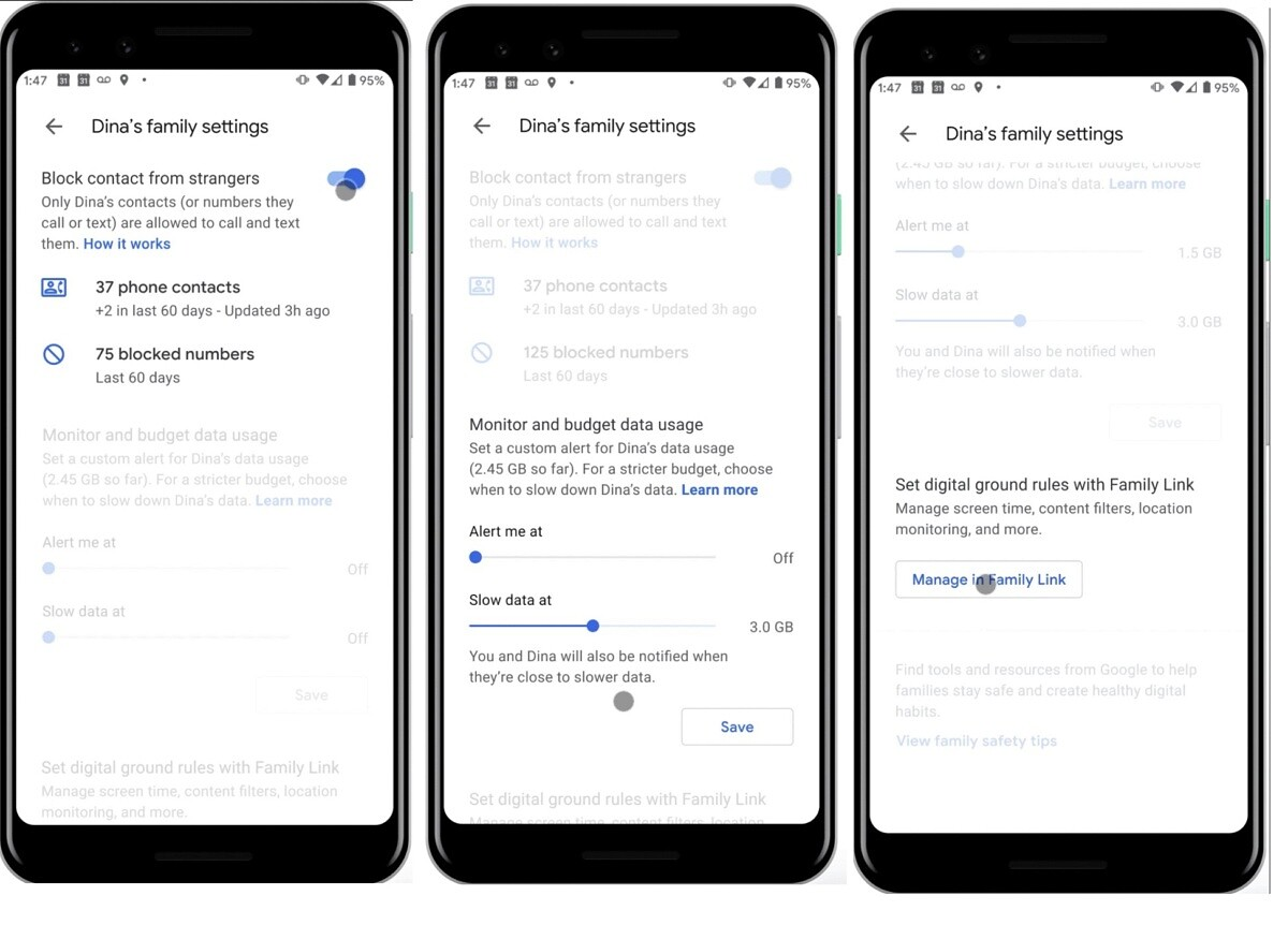 Google Fi family management features