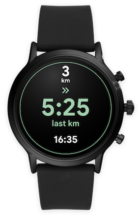 Google Fit Wear OS track pace