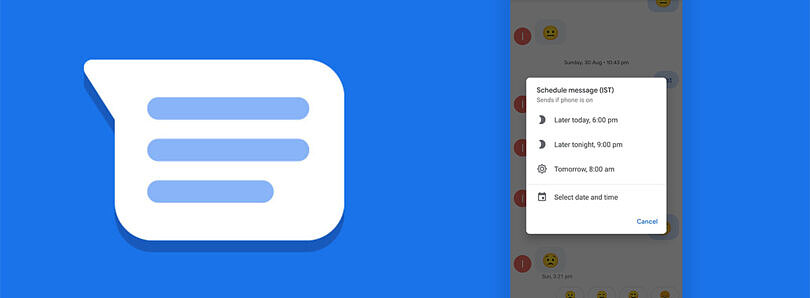 Google Messages starts rolling out message scheduling for some users