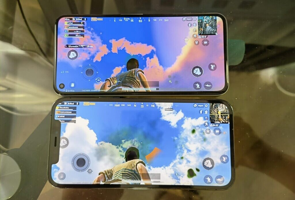PUBG graphics look better on the iPhone 12 than Pixel 5