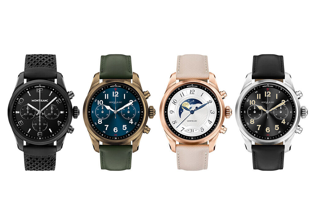 All color/strap variants of the Montblanc Summit 2+