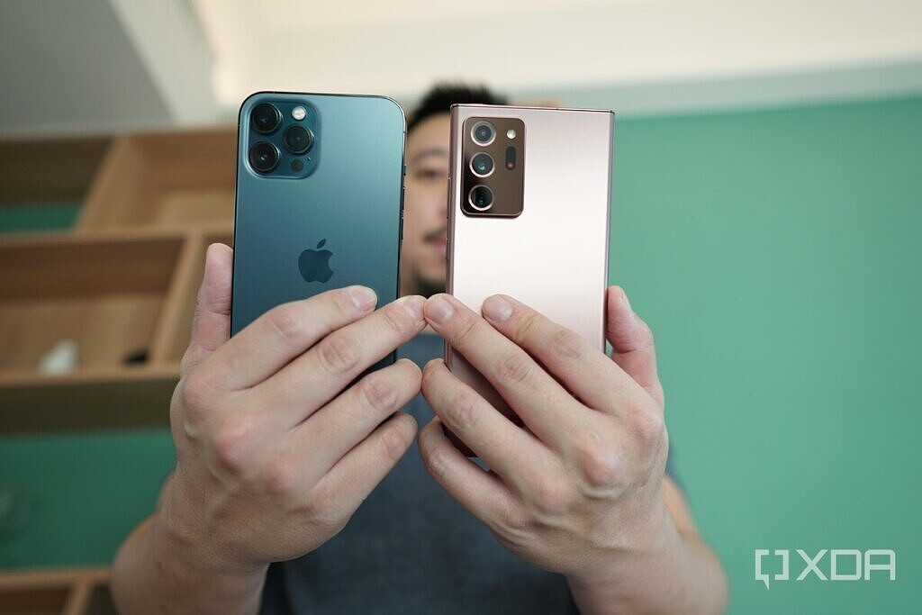 iPhone 12 Pro Max and Galaxy Note 20 Ultra