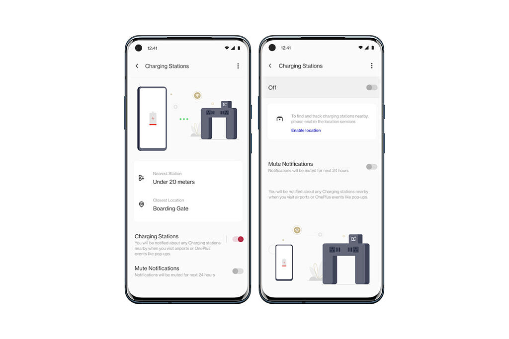 OnePlus Charging Stations settings