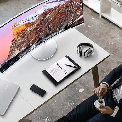 Score the Samsung 34″ QHD Curved QLED monitor for just $550 on Thanksgiving!