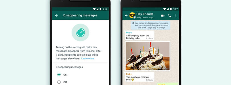 WhatsApp's Disappearing Messages feature will roll out this month