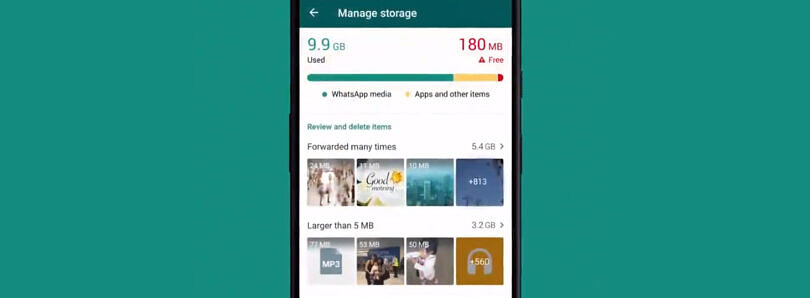 WhatsApp's new storage management tool lets you bulk delete annoying image forwards