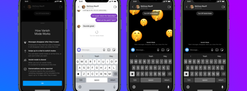 """Facebook adds """"Vanish Mode"""" for disappearing messages in Messenger and Instagram"""