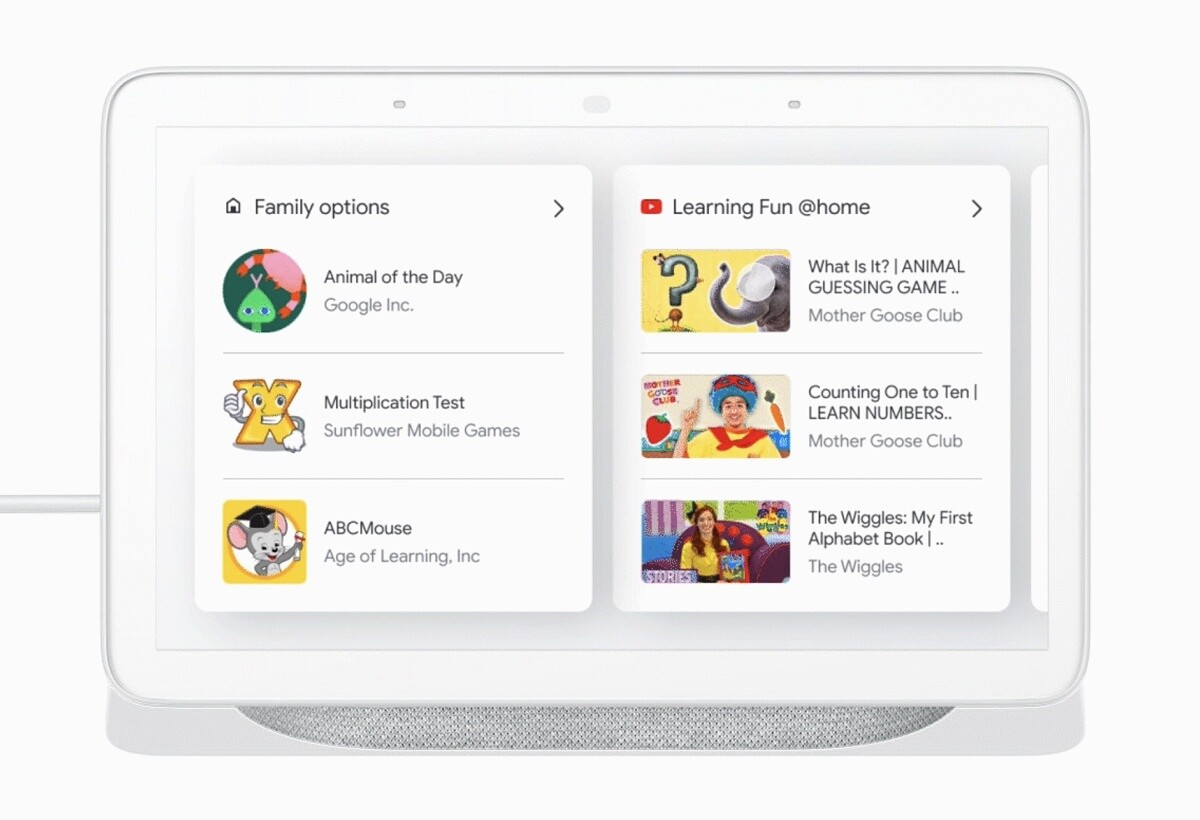 Google Assistant Smart Display learning