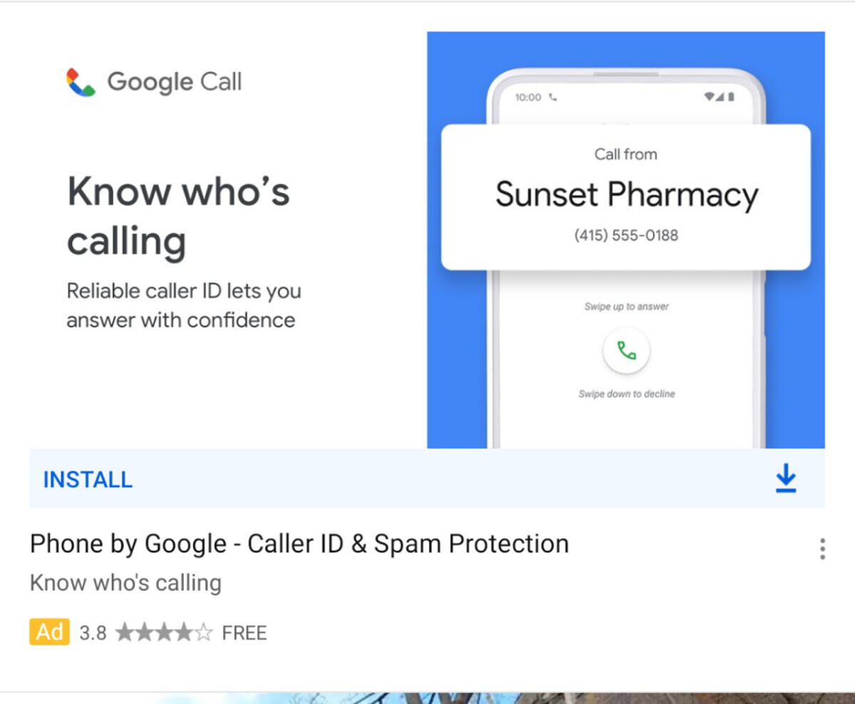 Google Call ad on YouTube