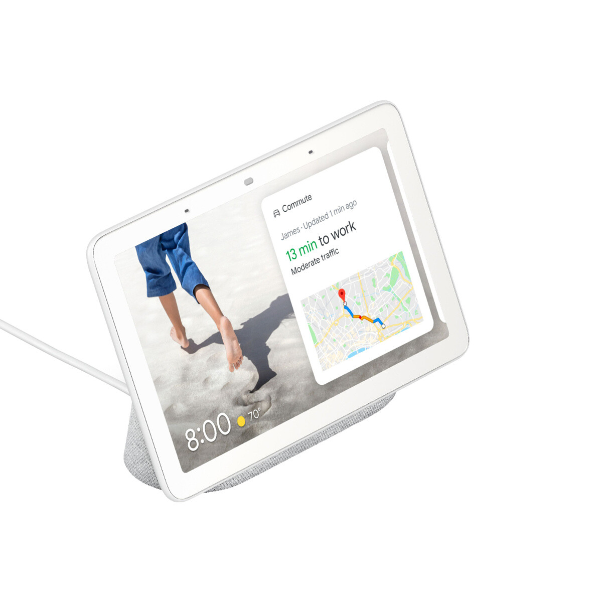Google Nest Hub with 7 inch touchscreen and Google Assistant