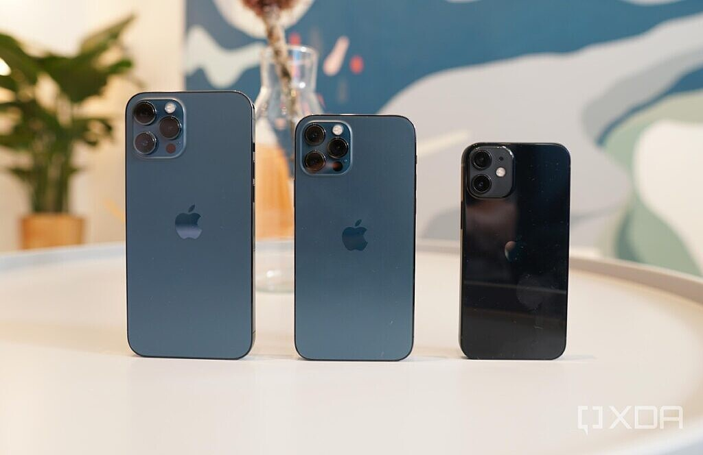 The iPhone 12 Pro Max, 12 Pro, and 12 Mini