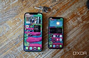 The iPhone 12 Mini next to the iPhone 12 Pro Max