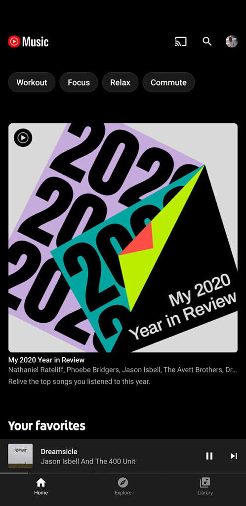YouTube Music Year in review playlist