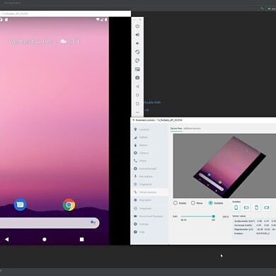 Android Studio Arctic Fox adds an emulator for rollable phones