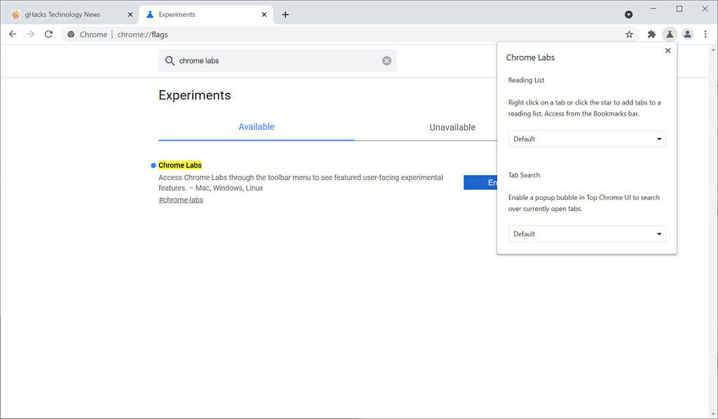 Google Chrome makes it simple to try out experimental features