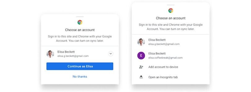 Chrome sync will soon be optional for Google Account sign-ins and password management