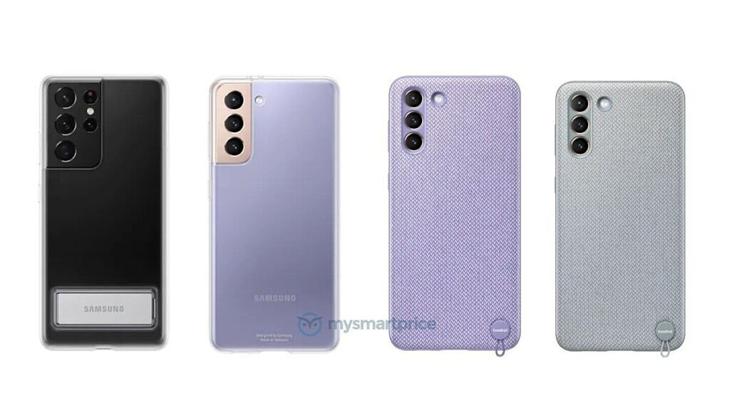 Samsung Galaxy S21 series clear case with stand and kvadrat cases leaked renders