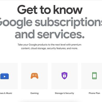 Google Store adds new section to highlight its many subscriptions