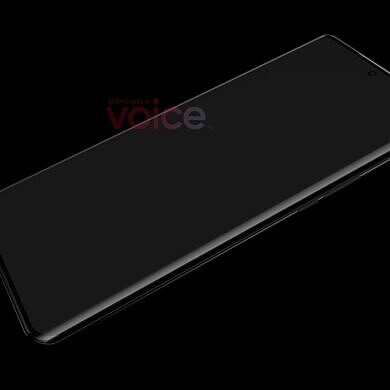 Huawei P50 Pro's first leaked render suggests Huawei is sticking with waterfall displays