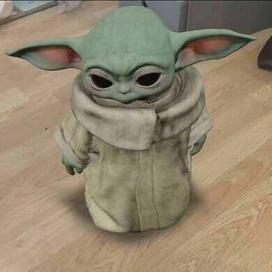 Baby Yoda can live in AR at your place, with Google Search