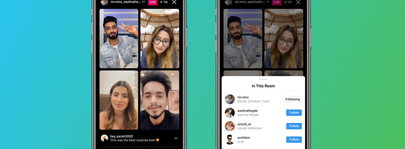 Instagram Live Rooms allows creators to add 3 users to a Live session