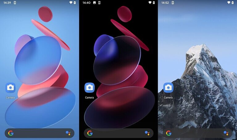MIUI 12 Geometry and Snow Mountain Super Live Wallpapers
