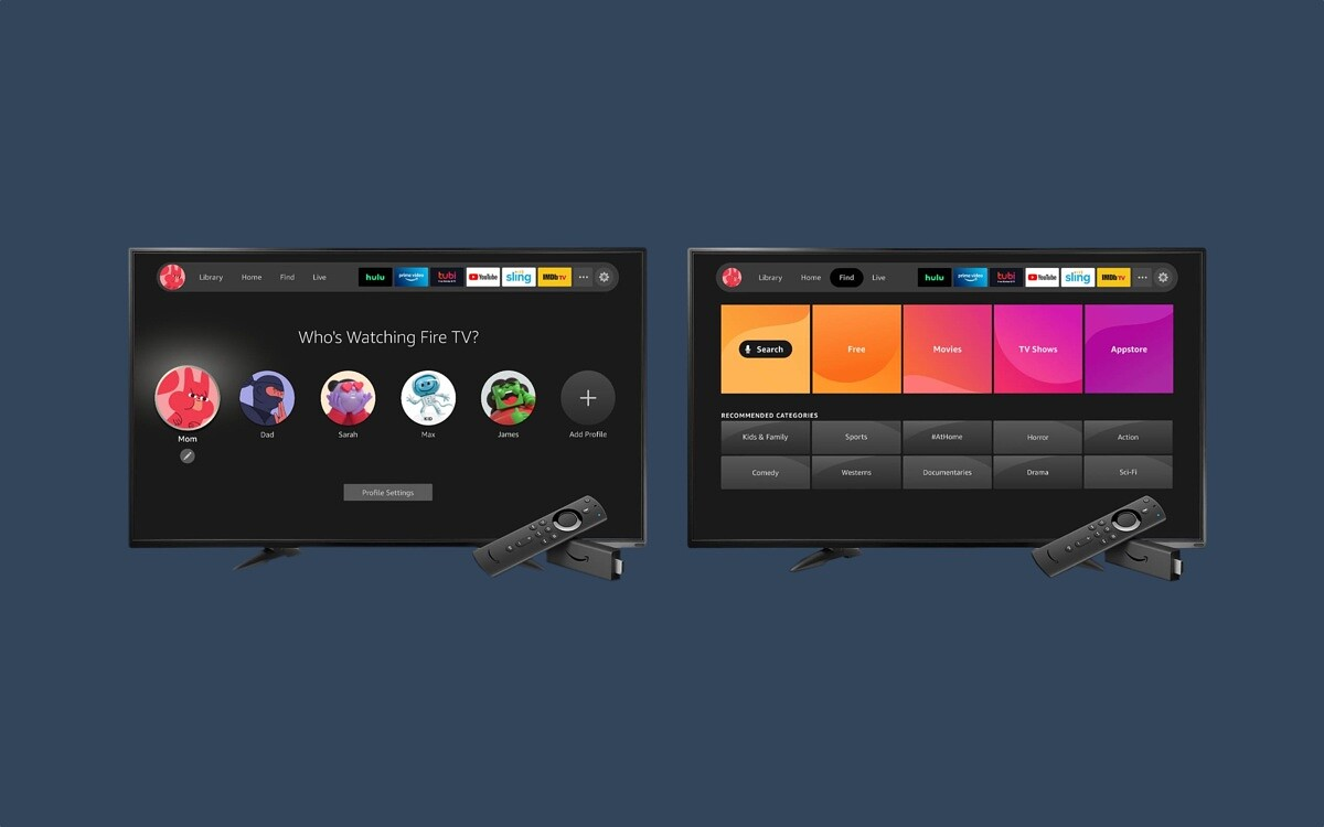 New Fire TV experience user profiles