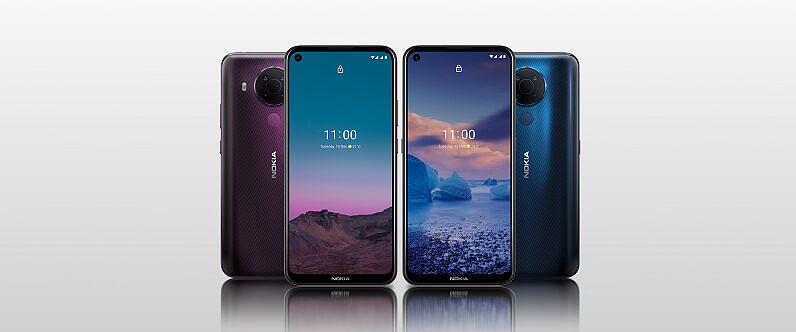 Nokia 5.4 in multiple colors