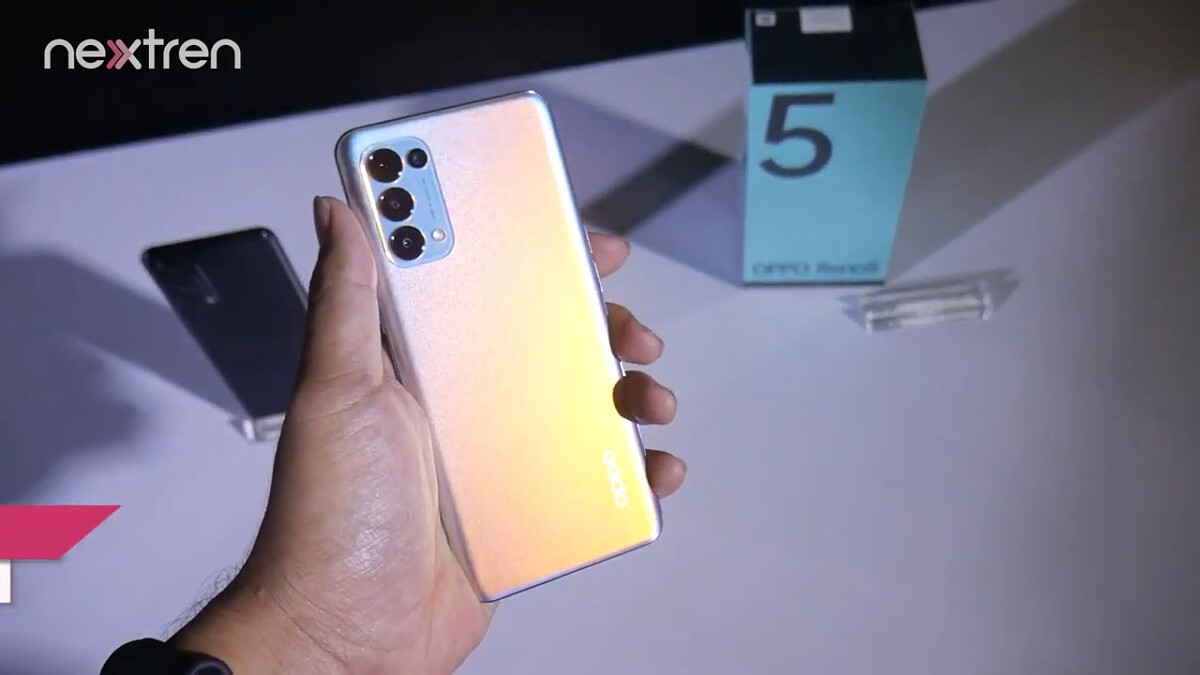 OPPO Reno 5 4G Global version detailed in a practical video